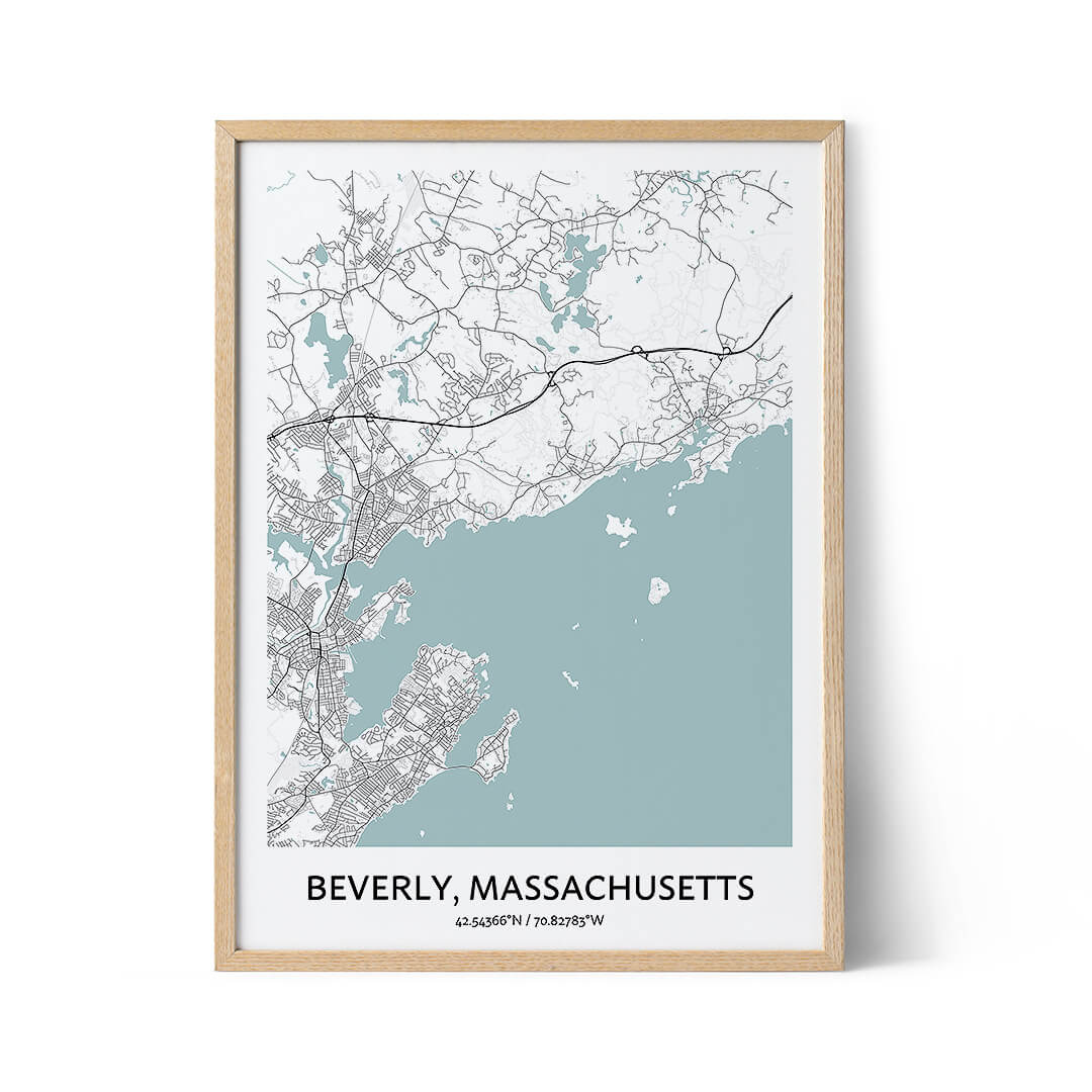 Beverly city map poster