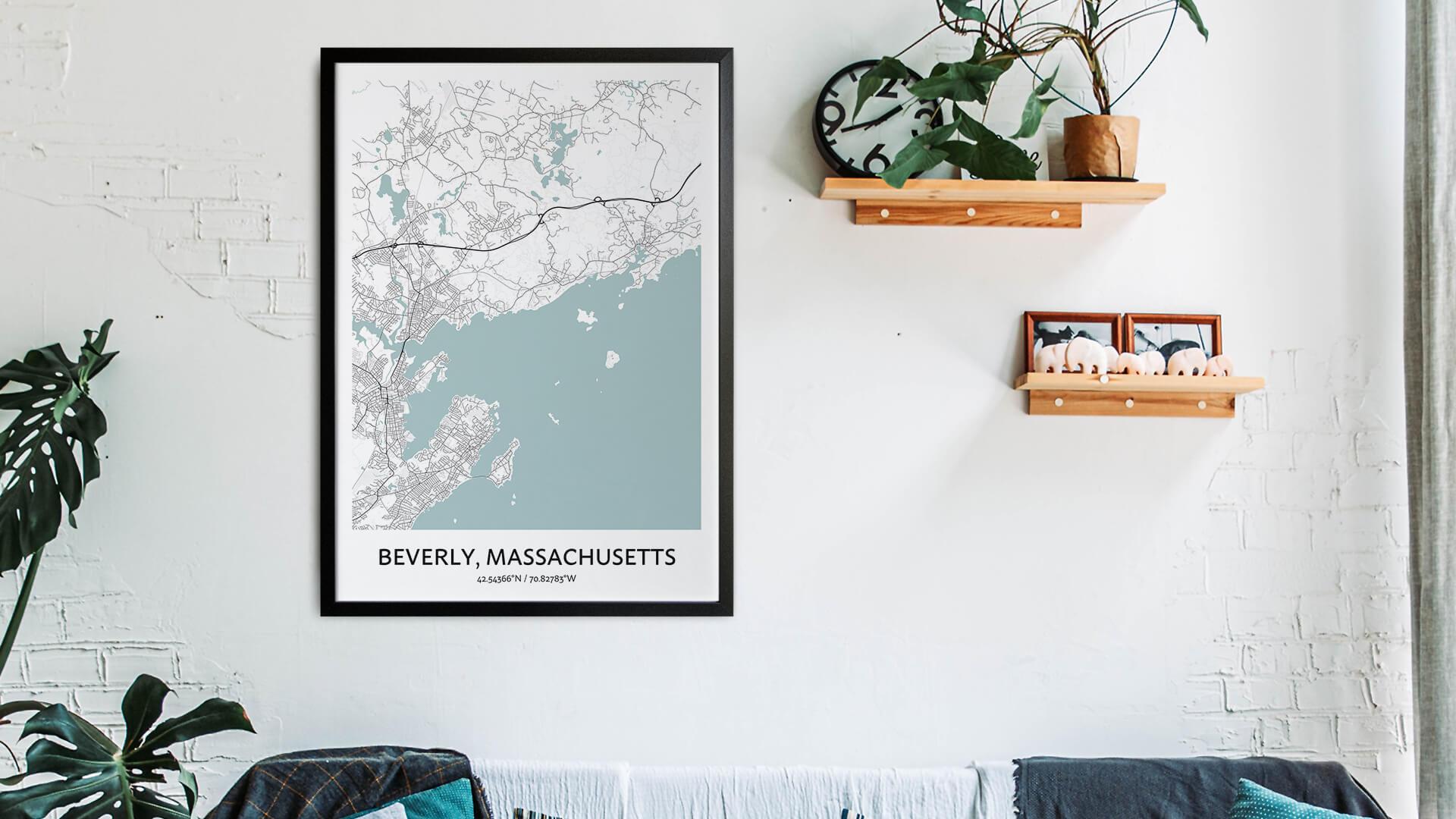 Beverly map art