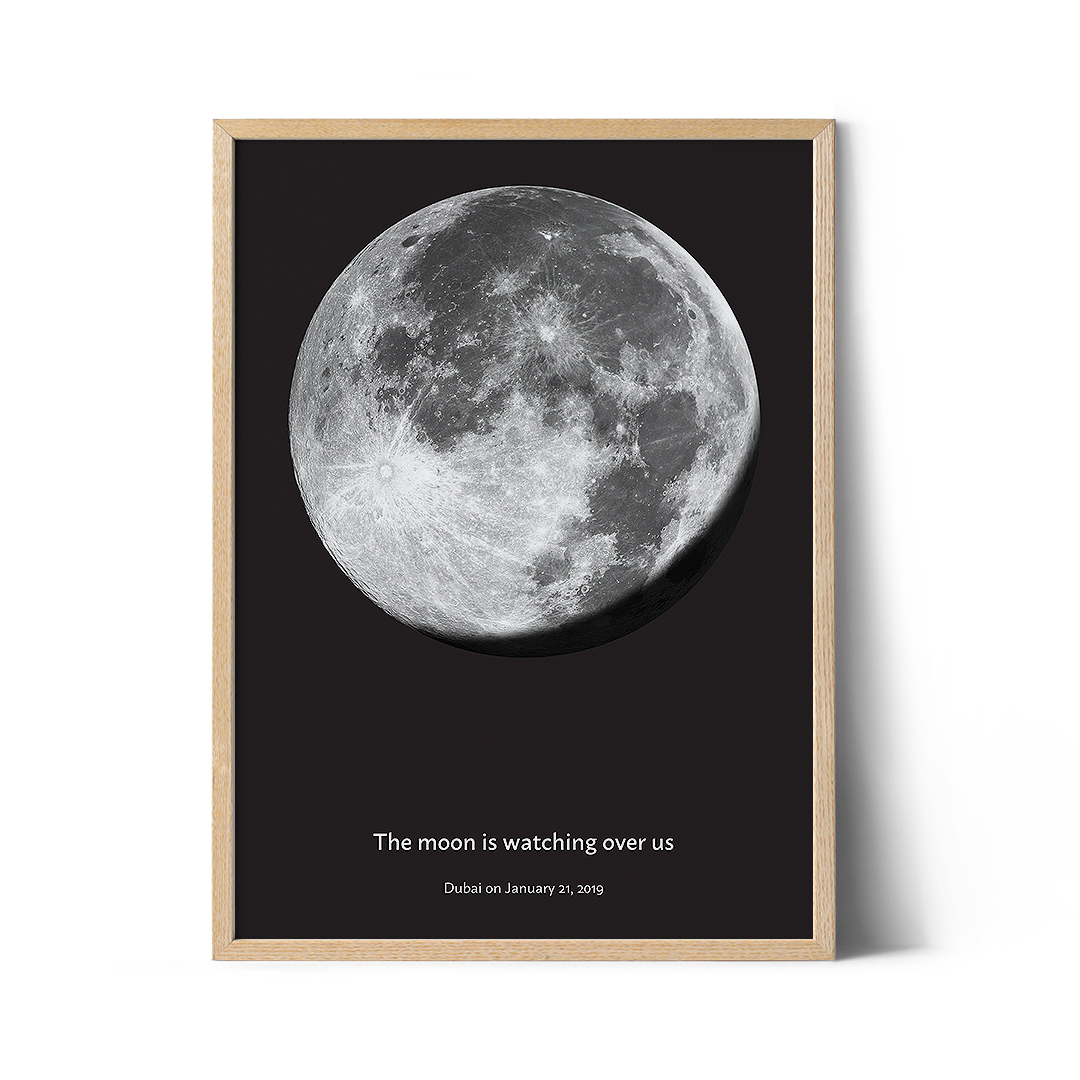 Birthday Moon Phase Poster