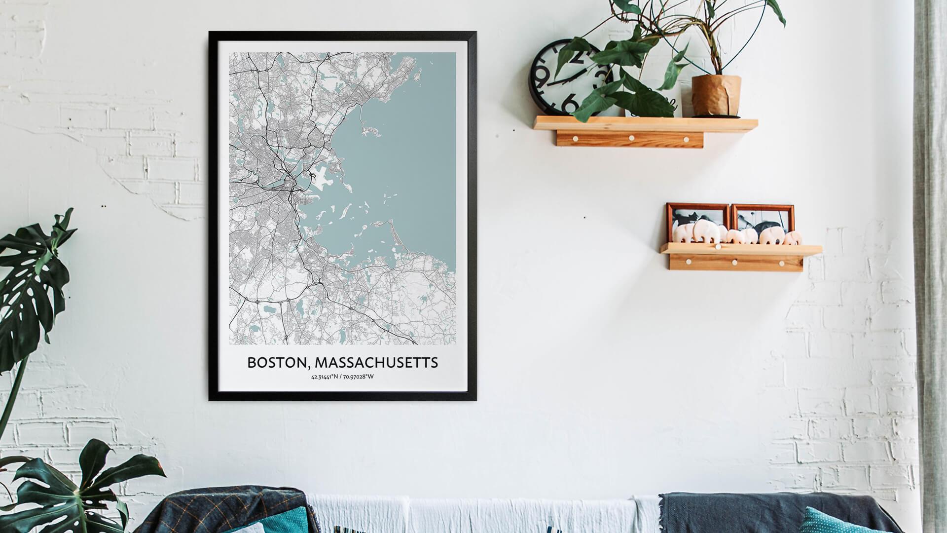 Boston map art