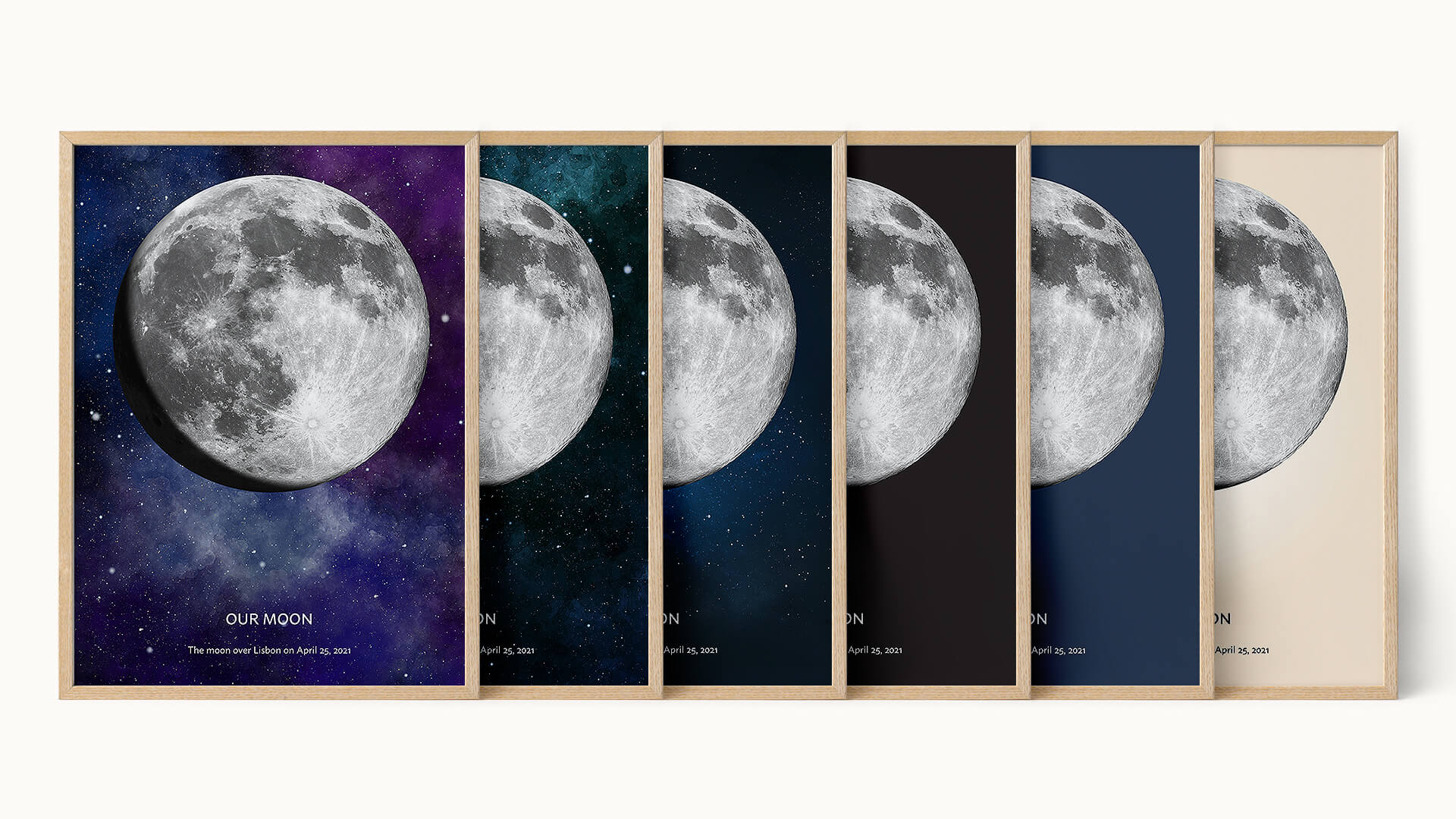 Moon Phase Poster Print
