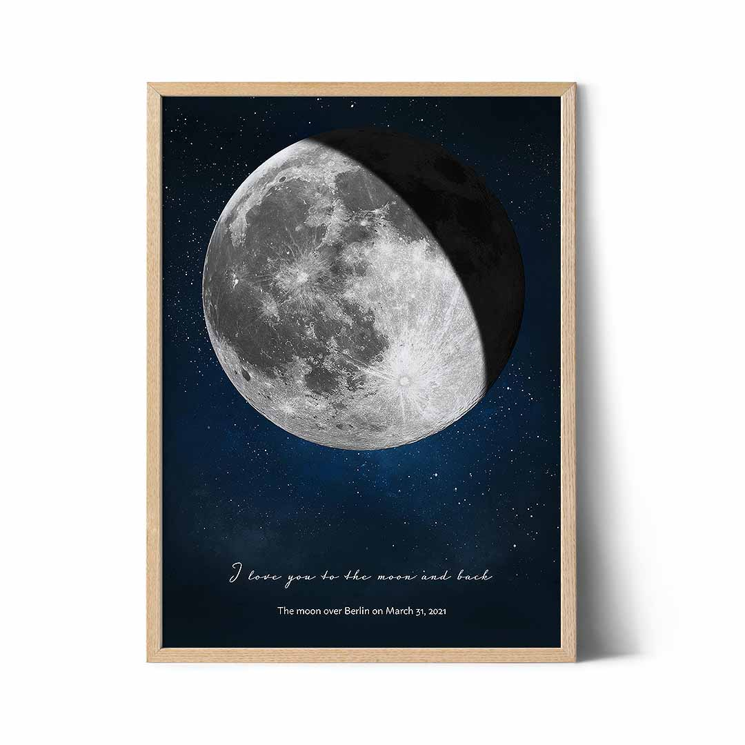 moon phase poster with
