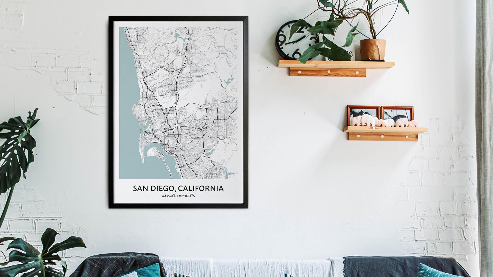 San Diego map art