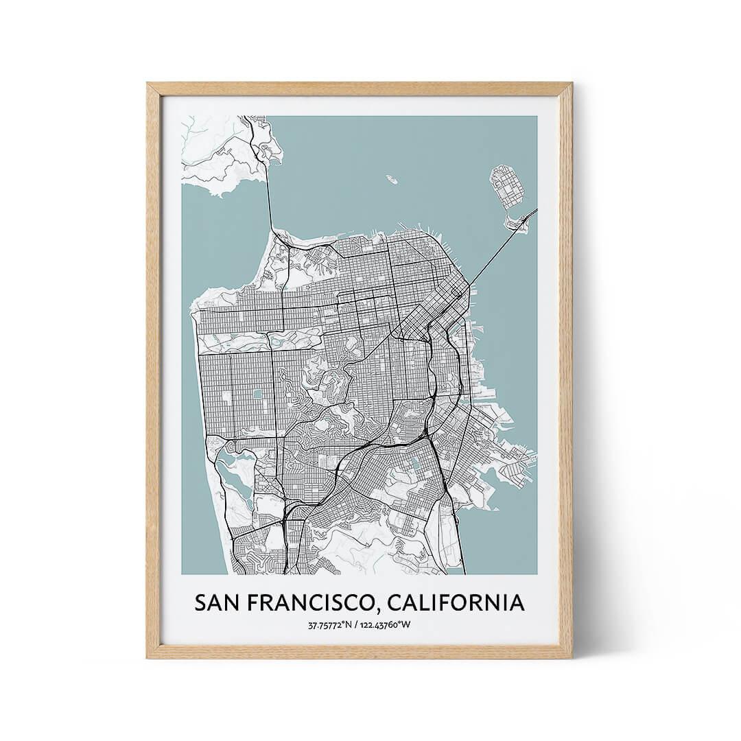 San Francisco city map poster
