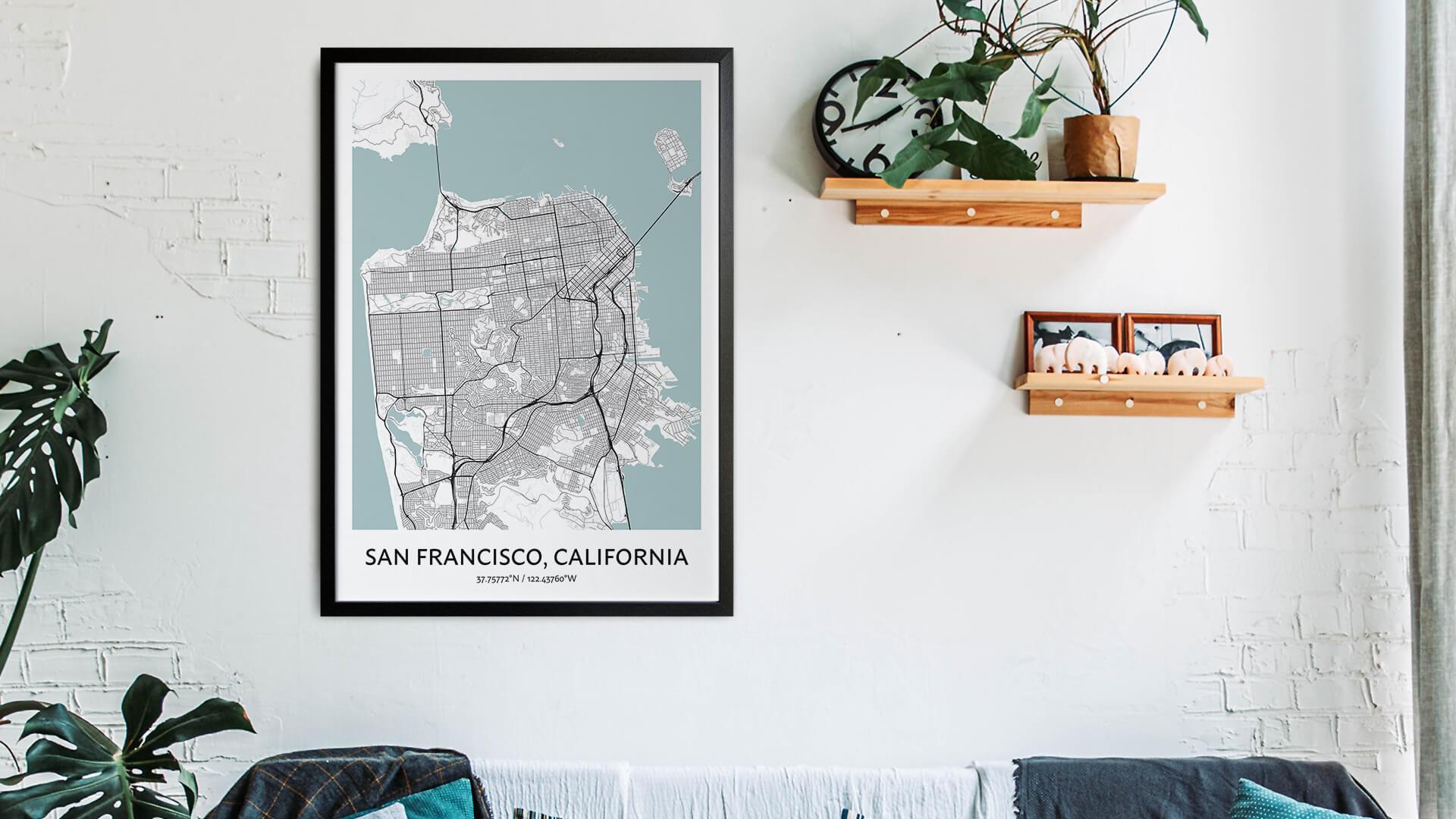 San Francisco map art