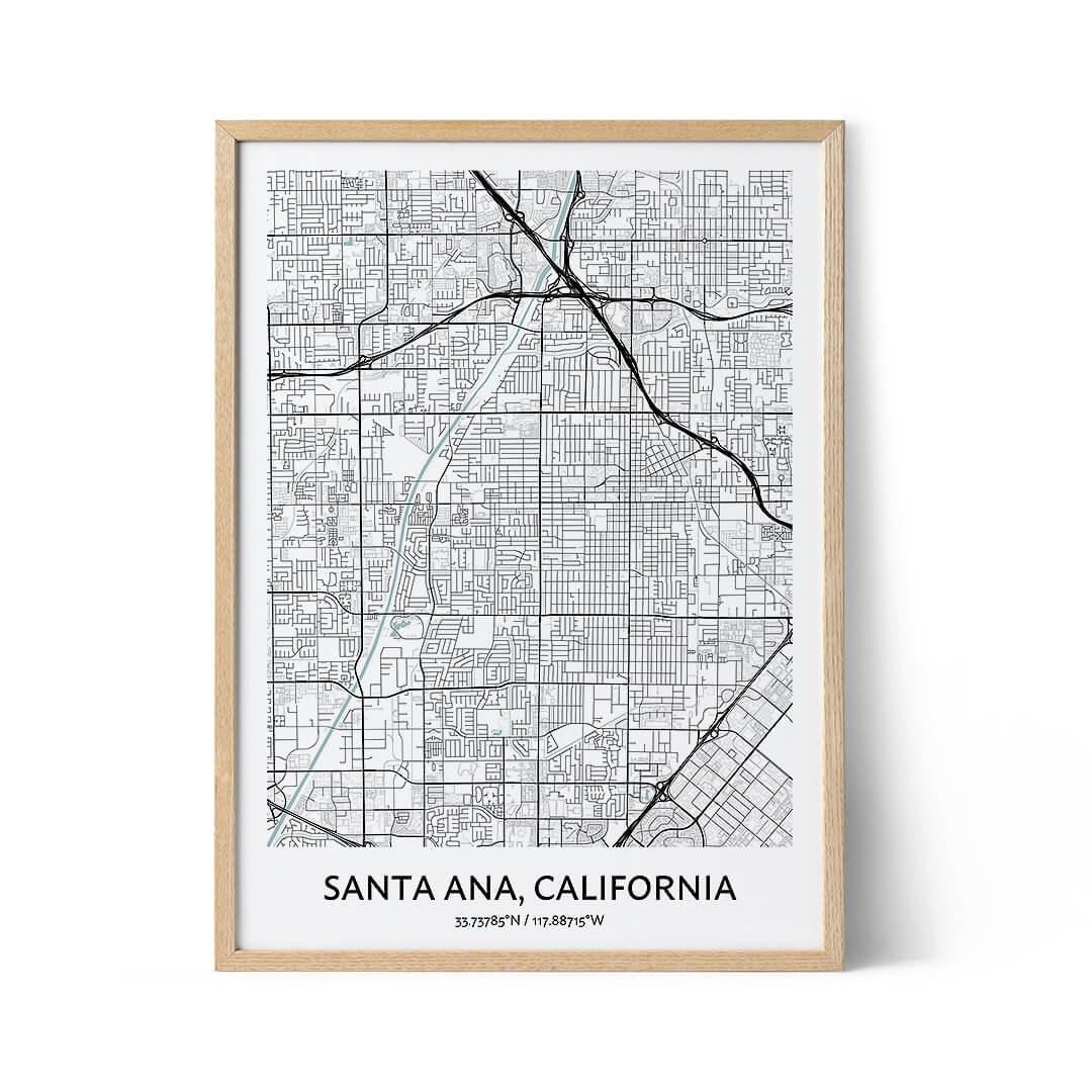 Santa Ana city map poster