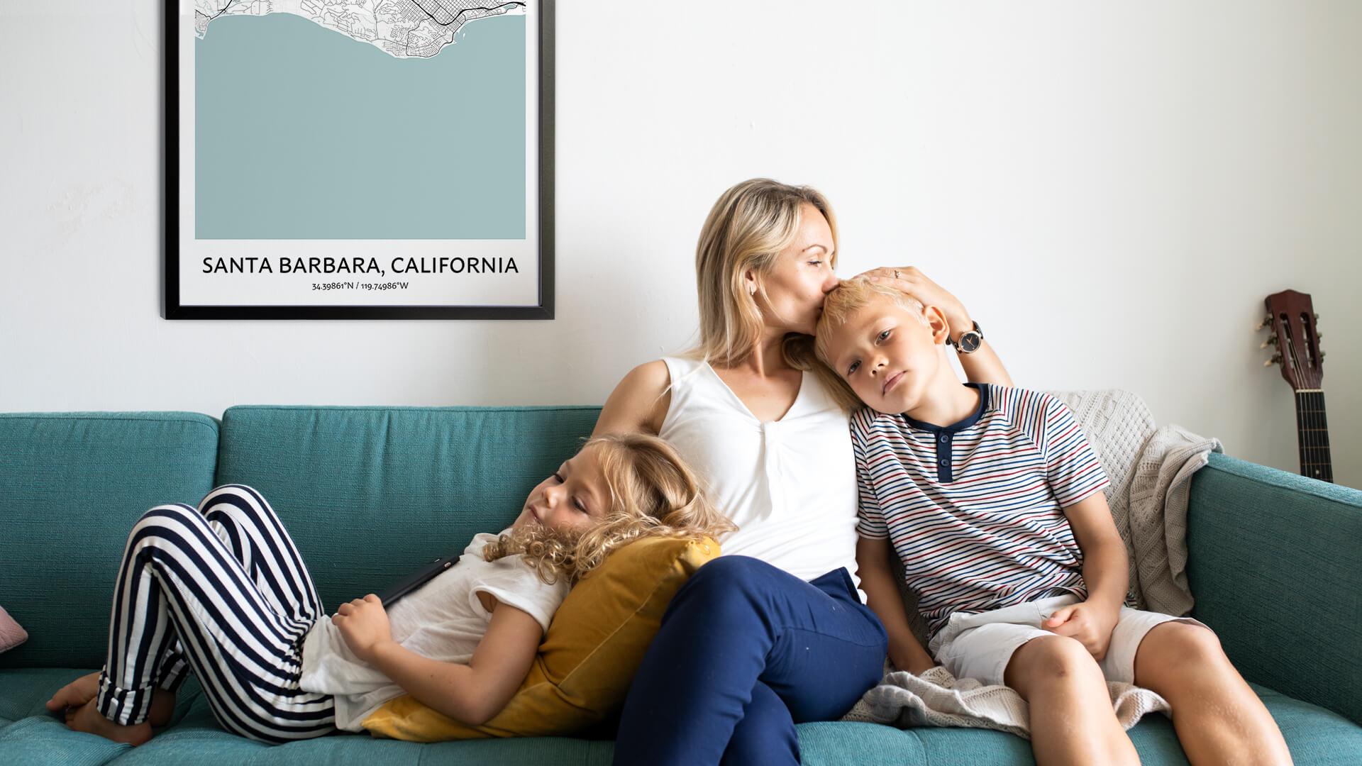 Santa Barbara map poster