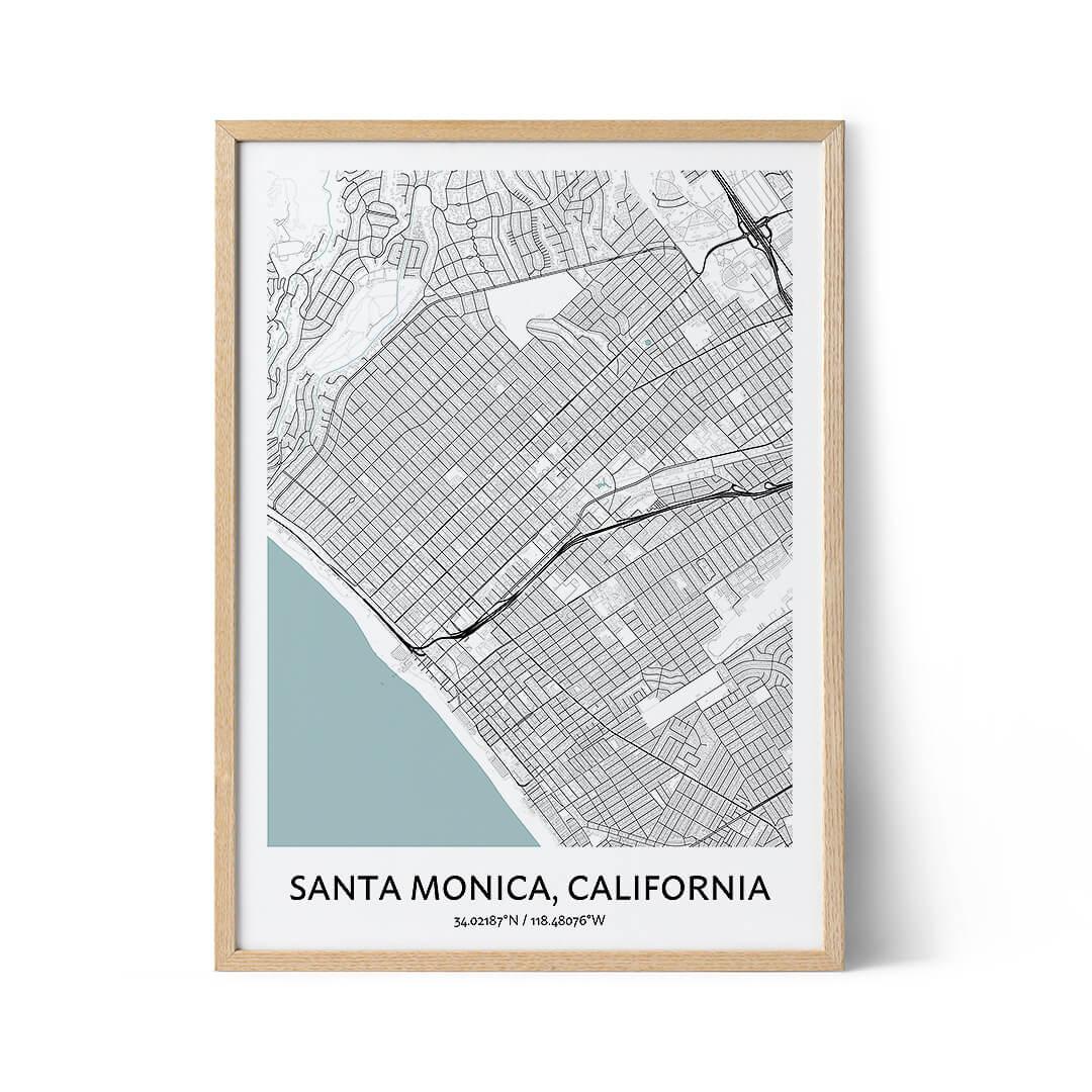 Santa Monica city map poster