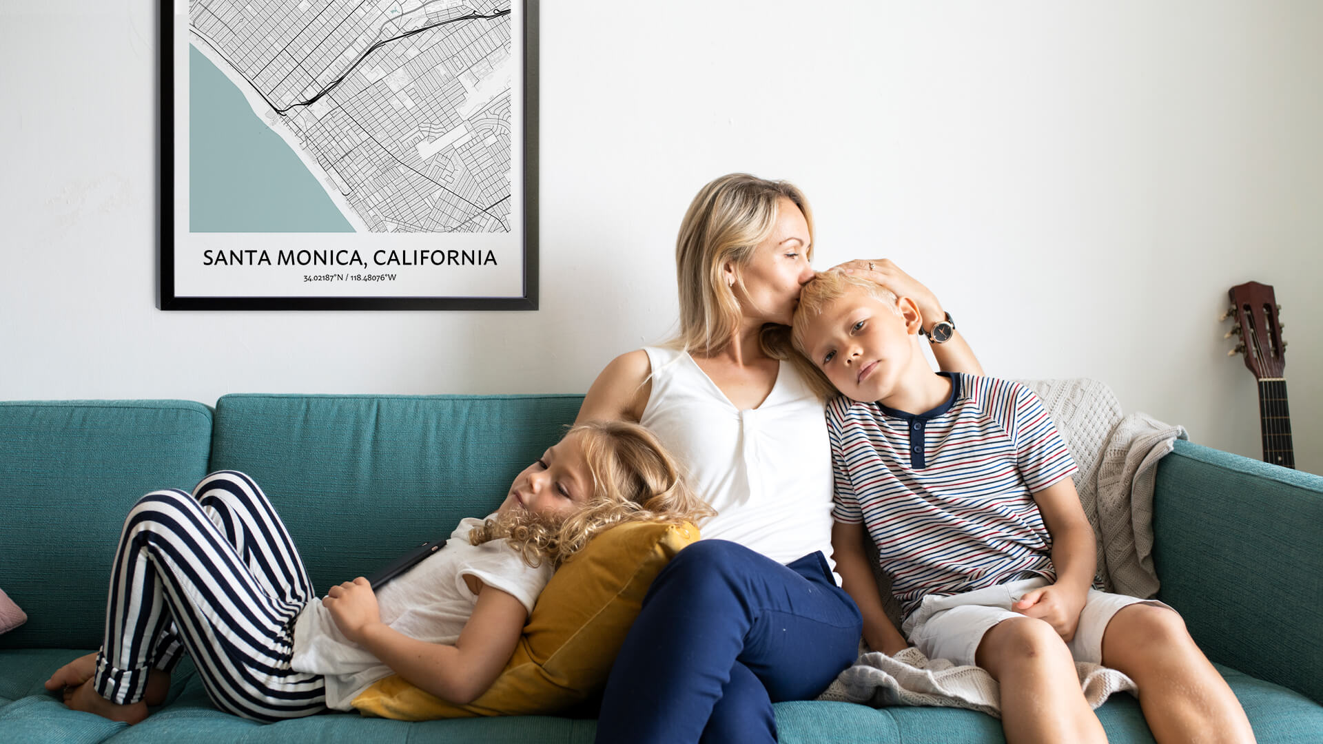 If you have a flair for the unique and unexpected, then you'll love giving a Santa Monica map print as a gift!