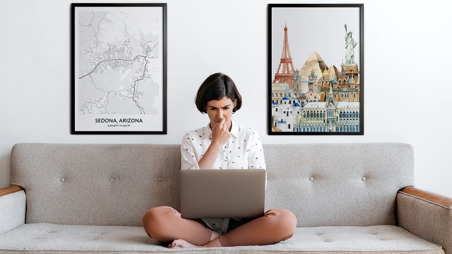 Sedona city map art