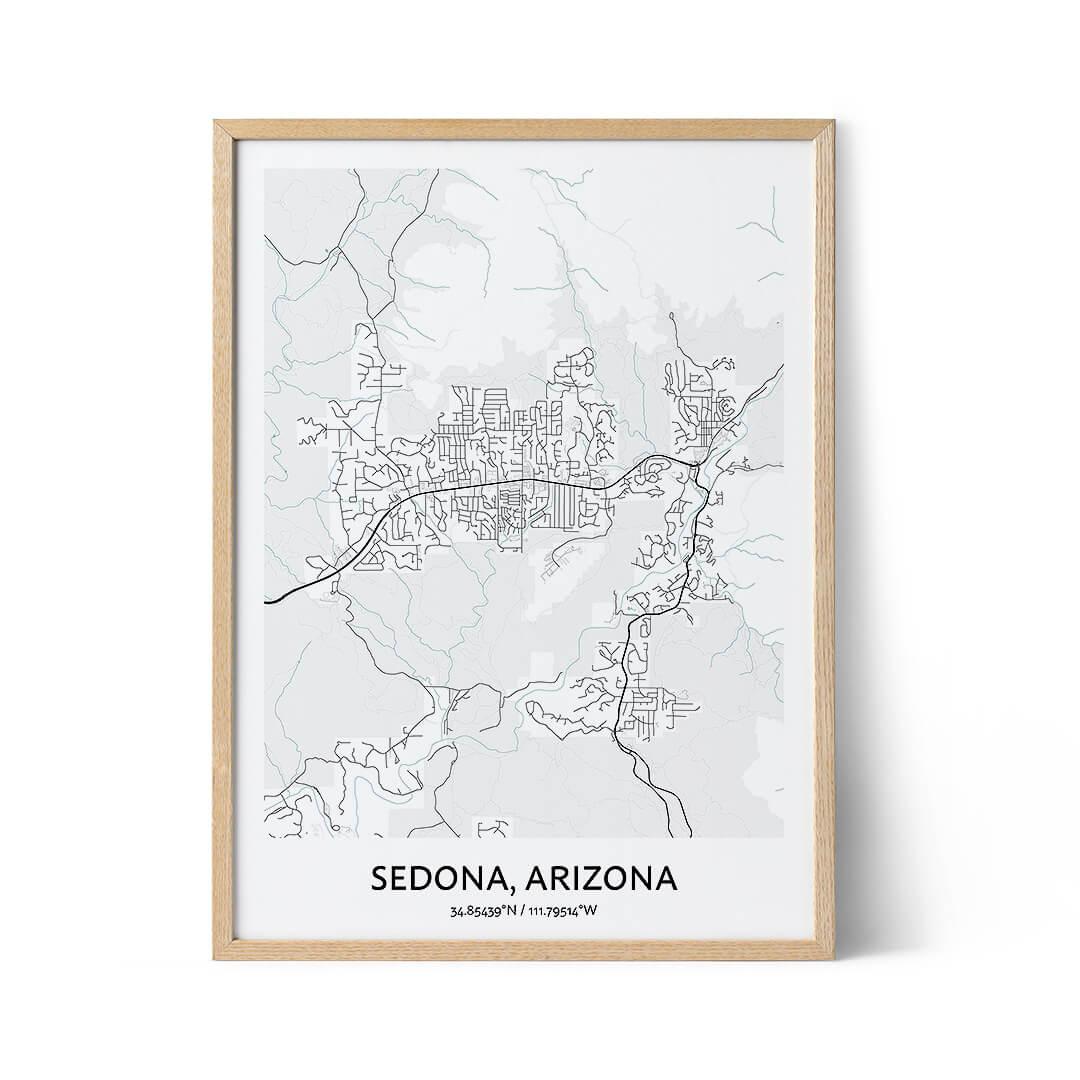 Sedona city map poster