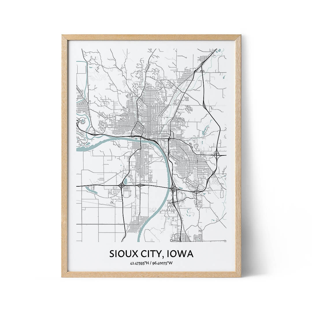 Sioux City city map poster