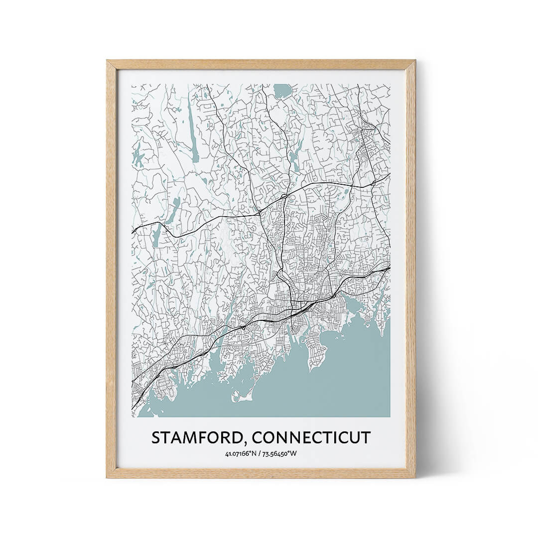 Stamford city map poster