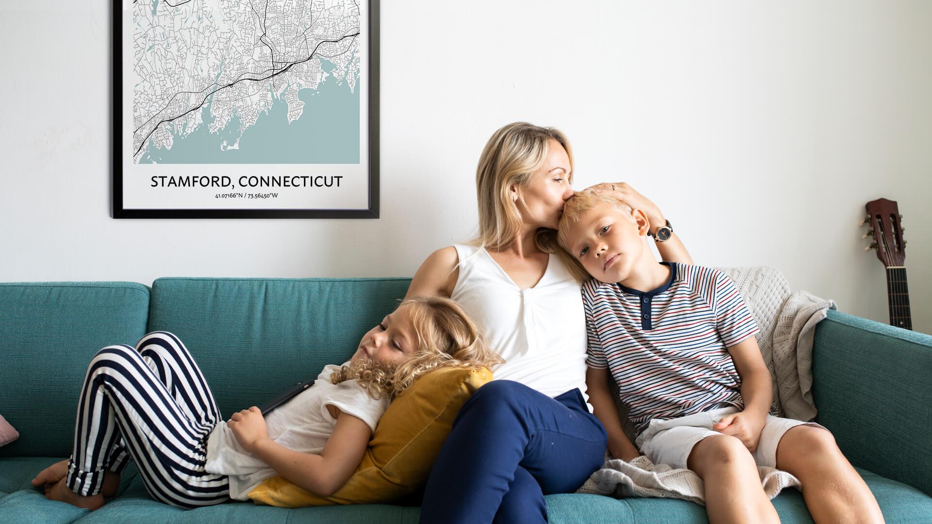 Stamford map poster