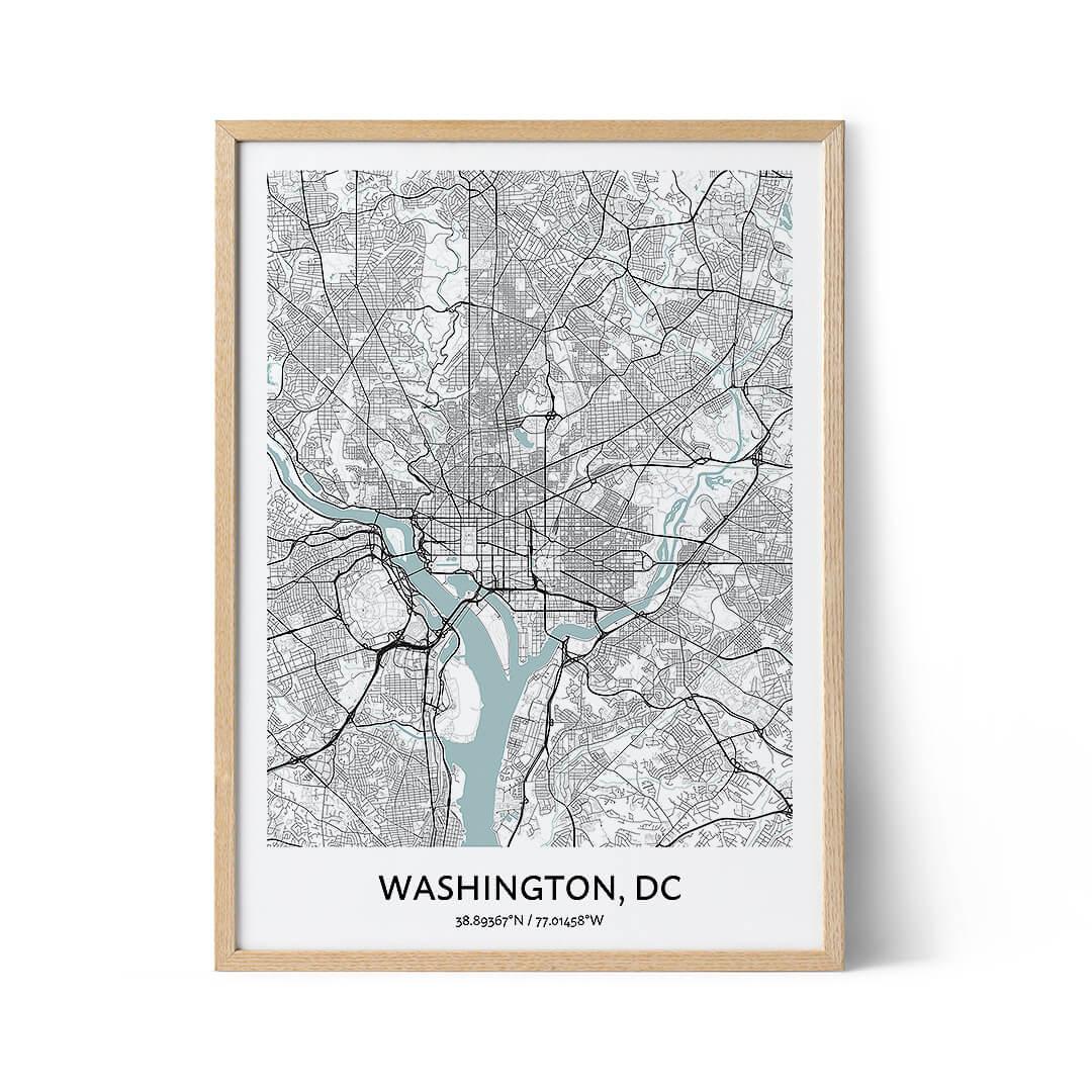 Washington DC city map poster