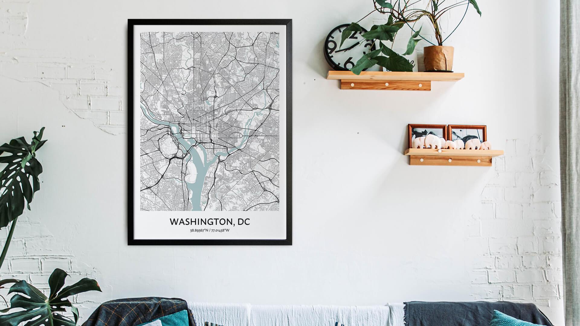 Washington DC map art