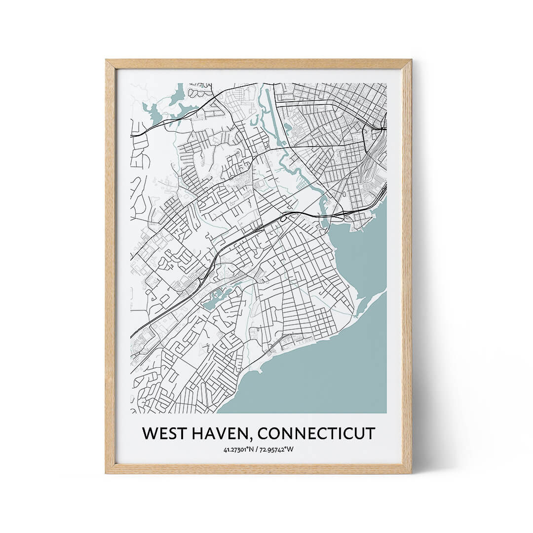 West Haven city map poster