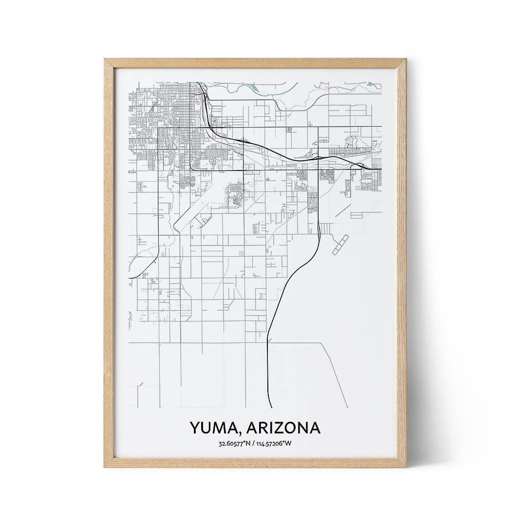 Yuma city map poster