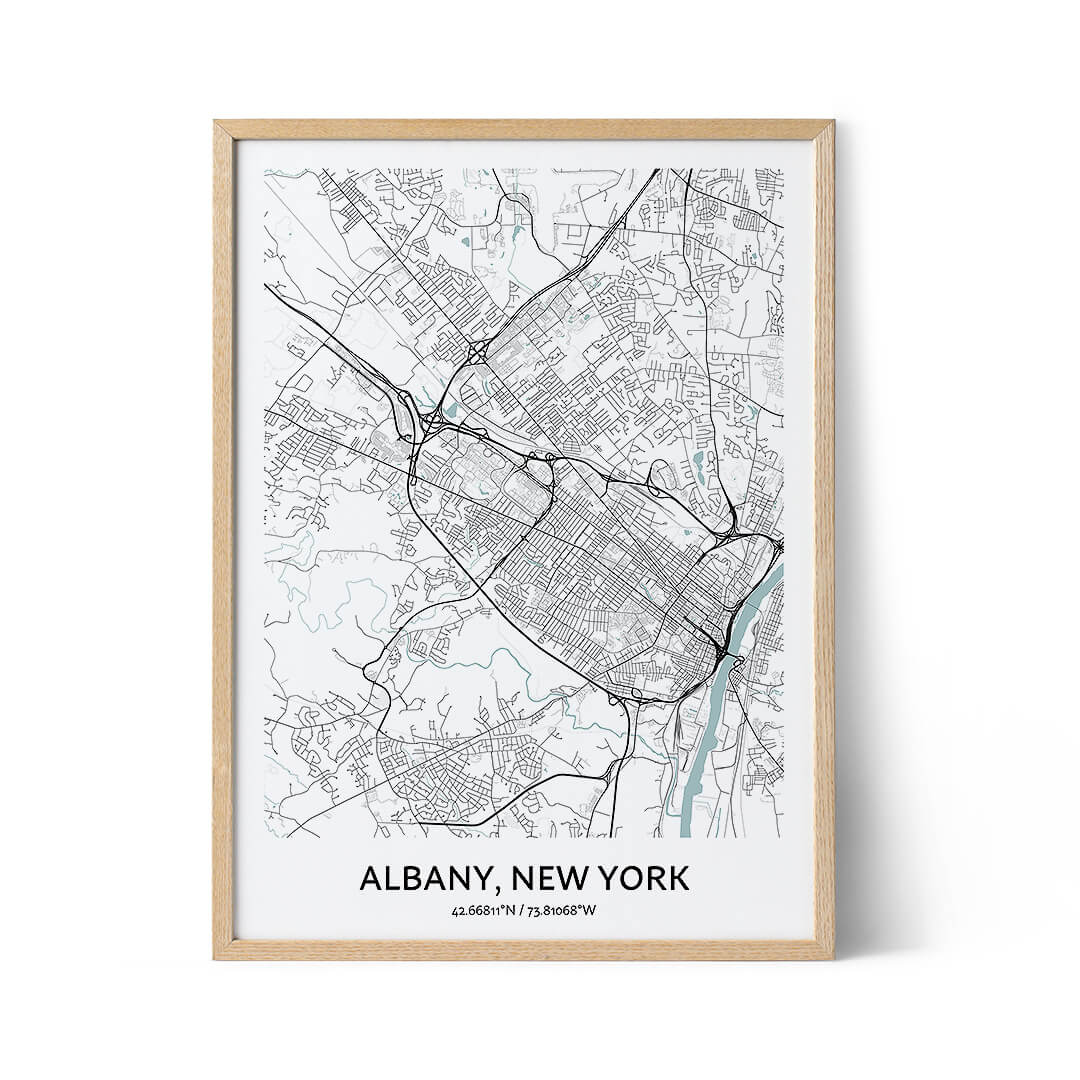 Albany city map poster