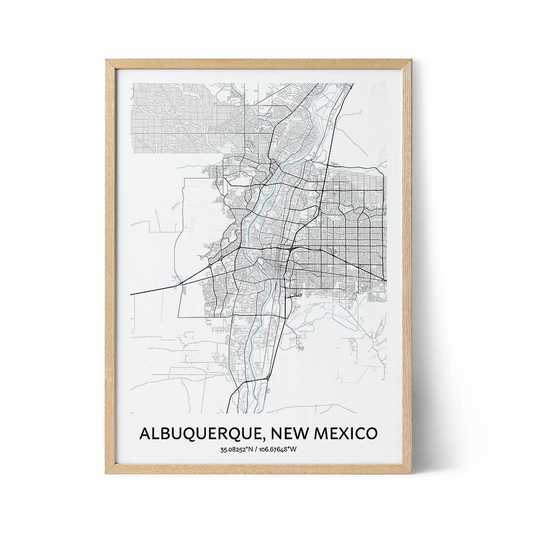 Albuquerque city map poster