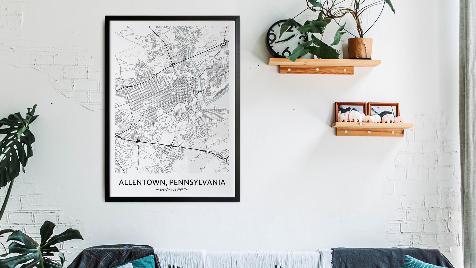 Allentown map art