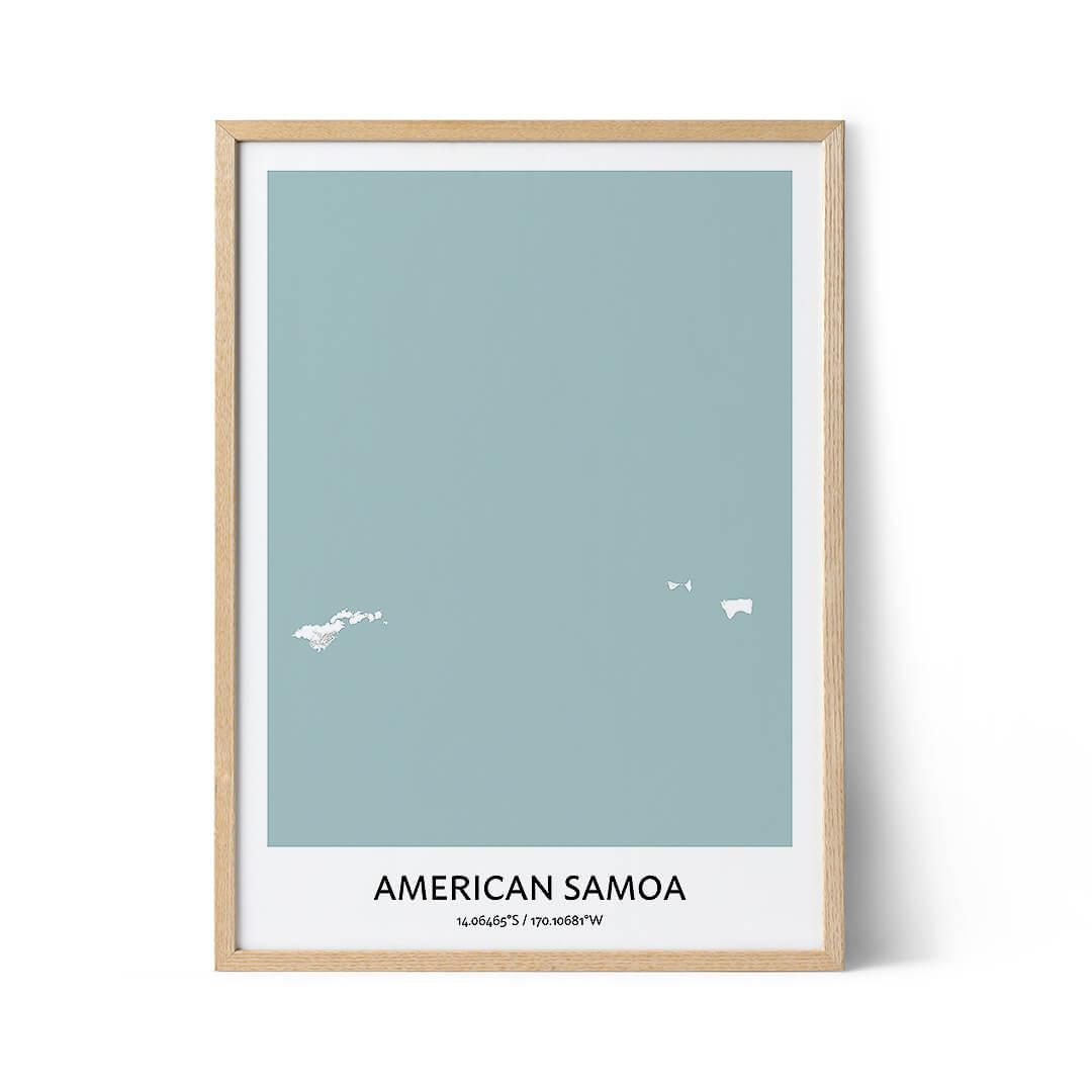 American Samoa city map poster