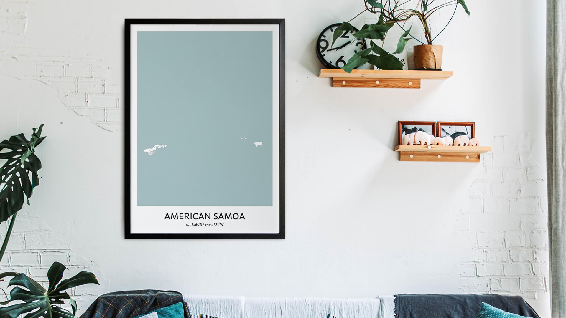 American Samoa map art