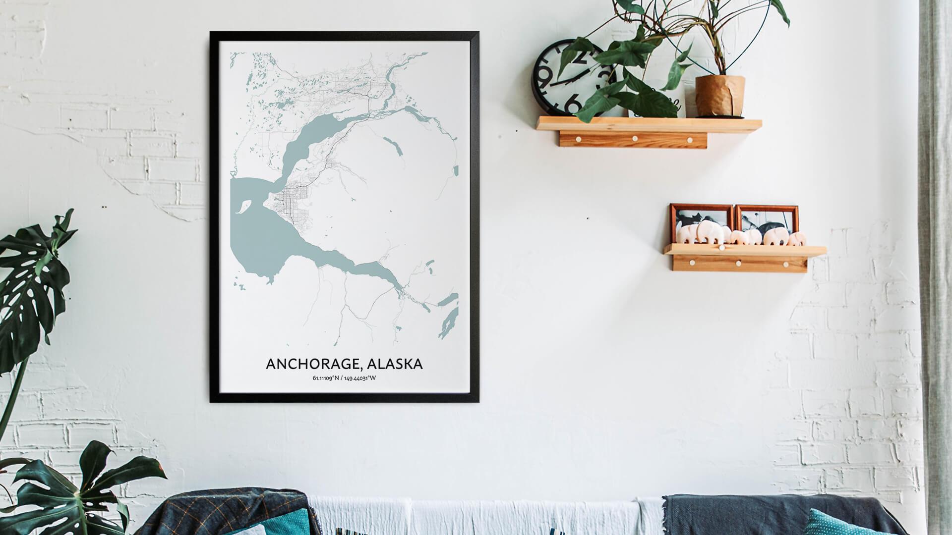 Anchorage map art