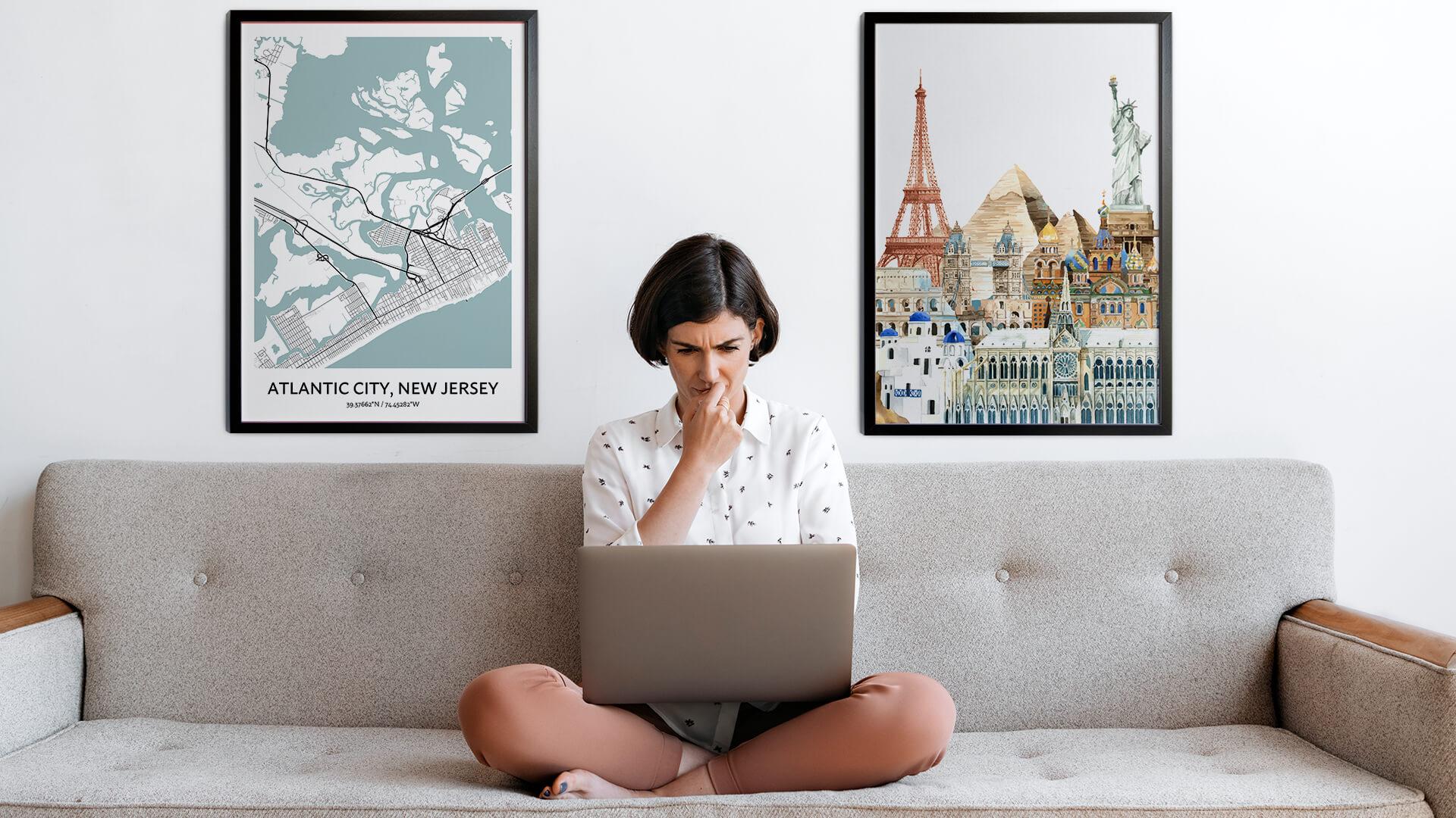 Atlantic City city map art