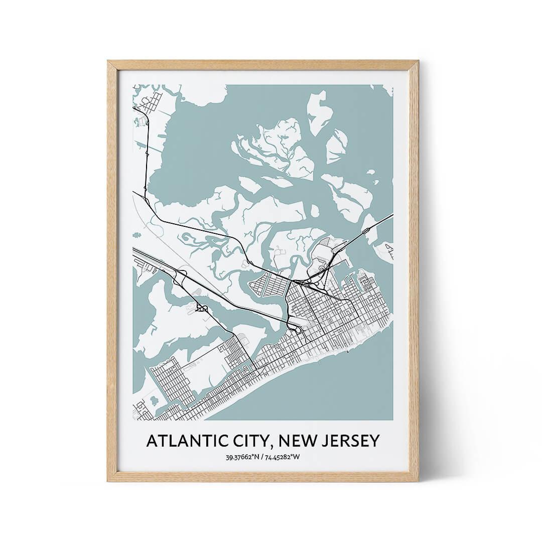 Atlantic City city map poster