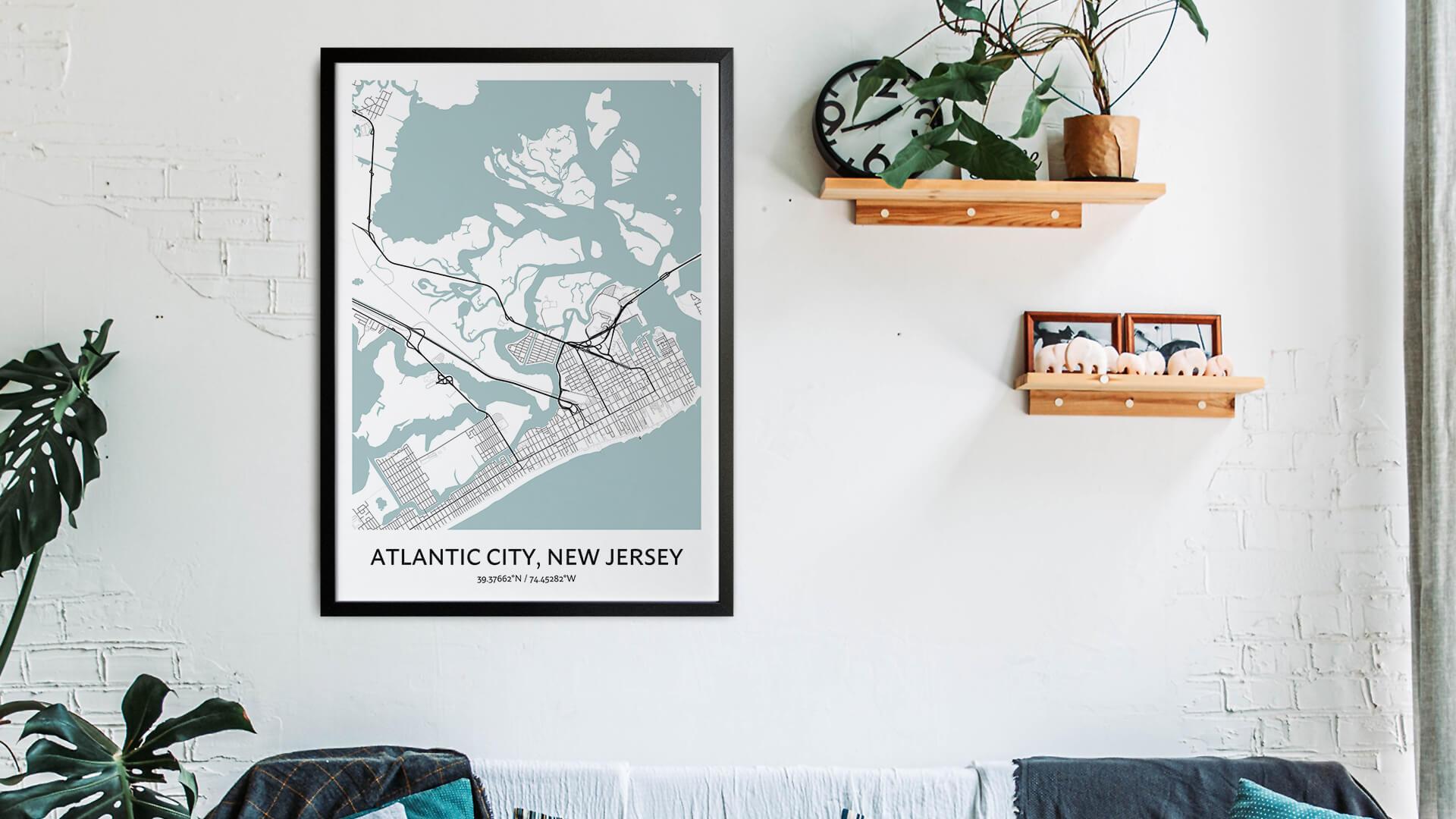 Atlantic City map art