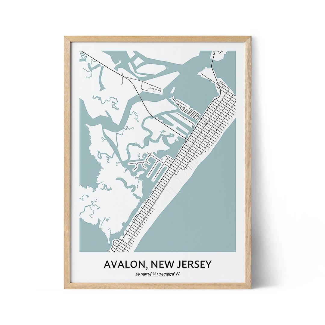 Avalon city map poster