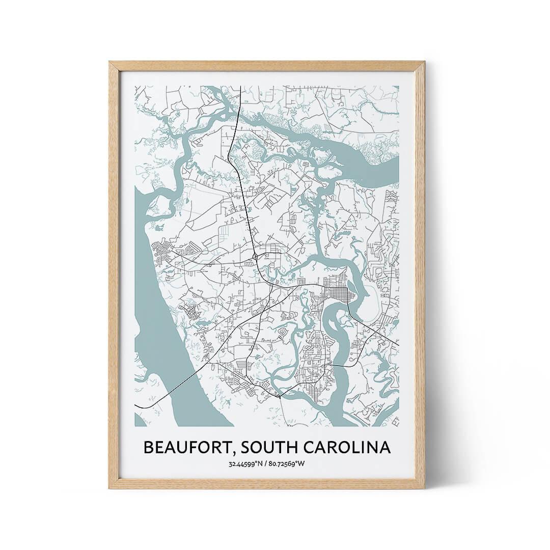 Beaufort city map poster
