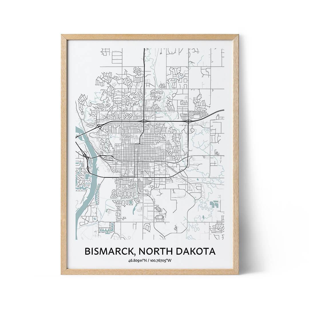 Bismarck city map poster