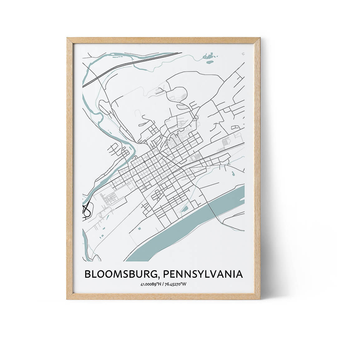 Bloomsburg city map poster