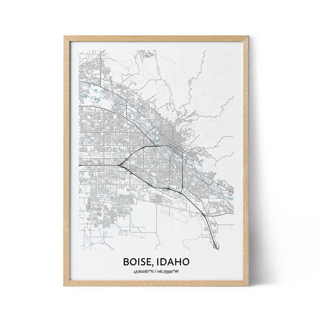 Boise city map poster