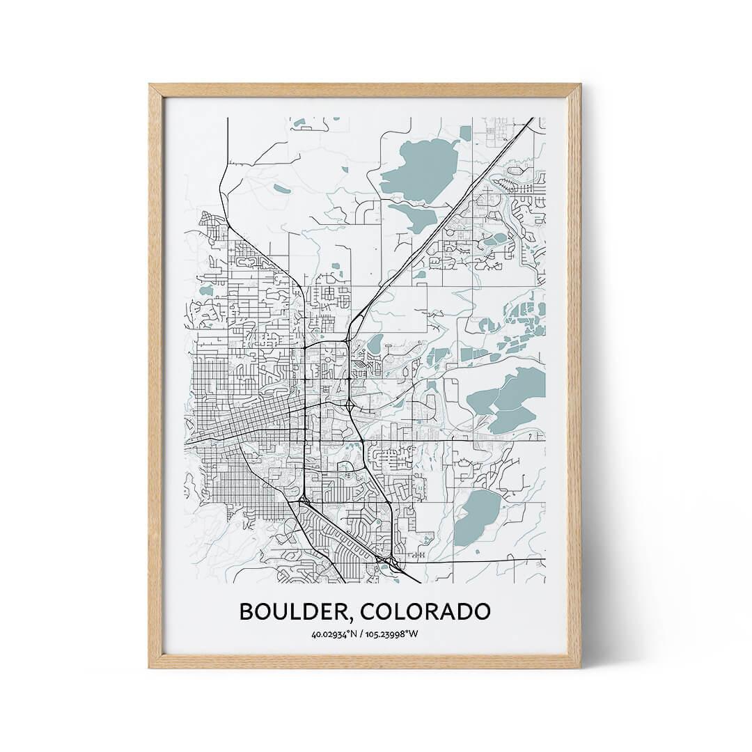 Boulder city map poster