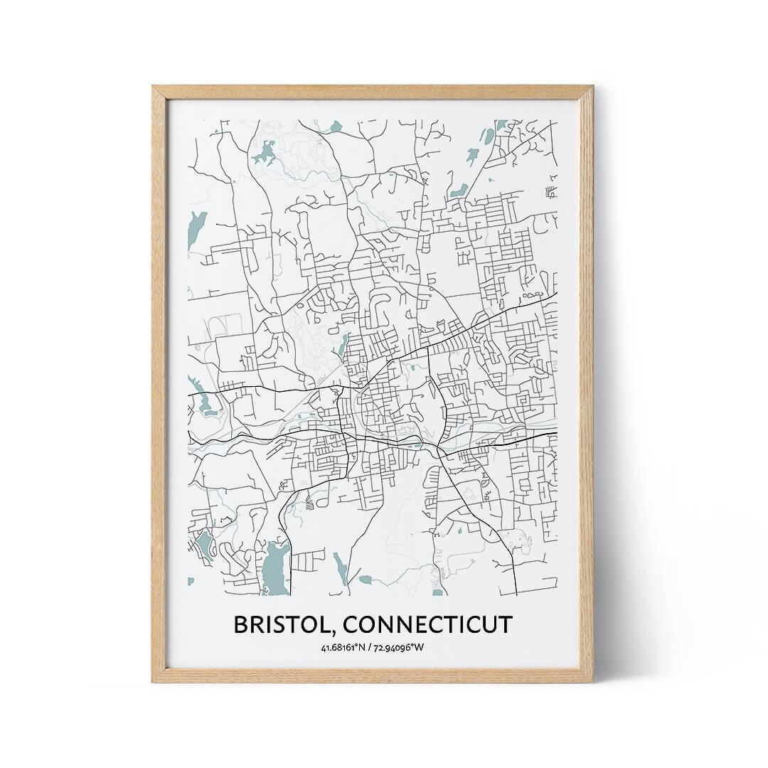 Bristol city map poster
