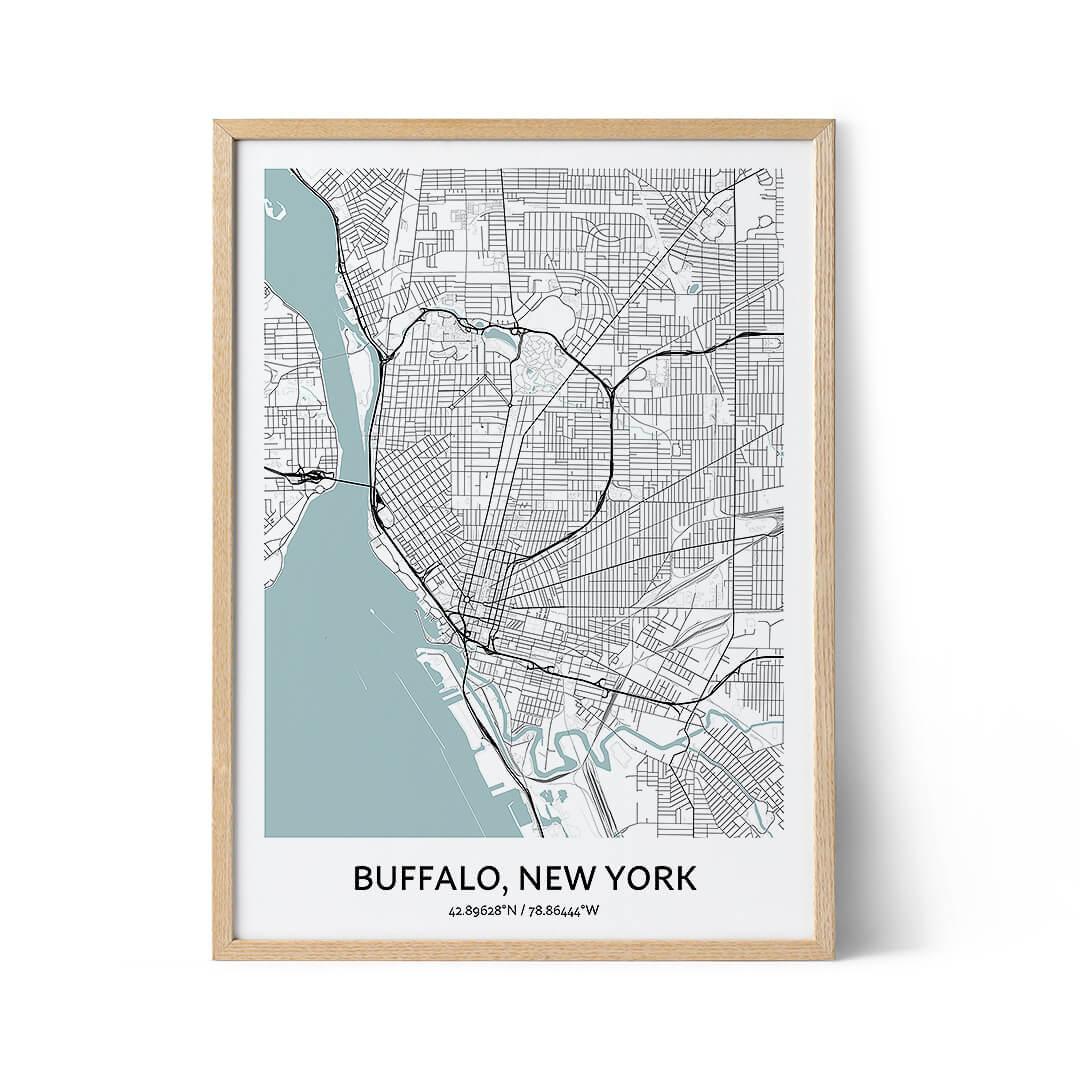 Buffalo city map poster