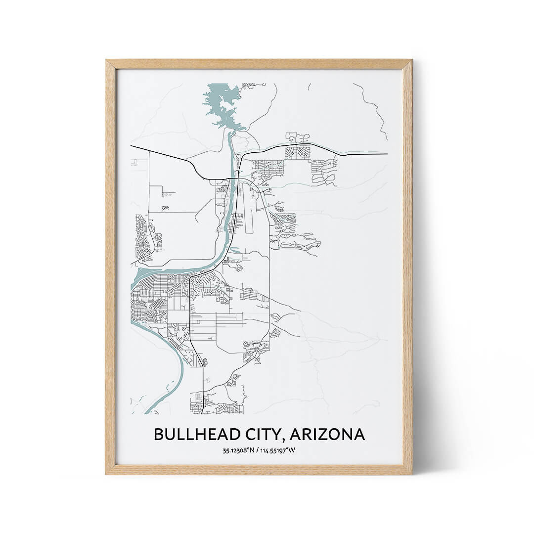 Bullhead City city map poster