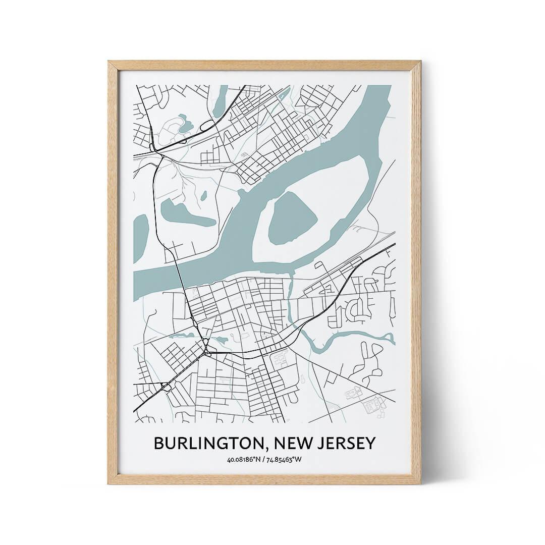 Burlington city map poster