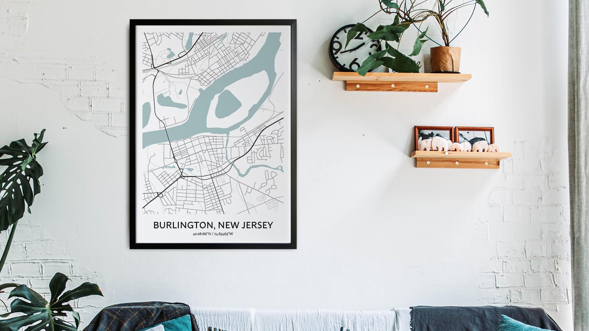 Burlington map art
