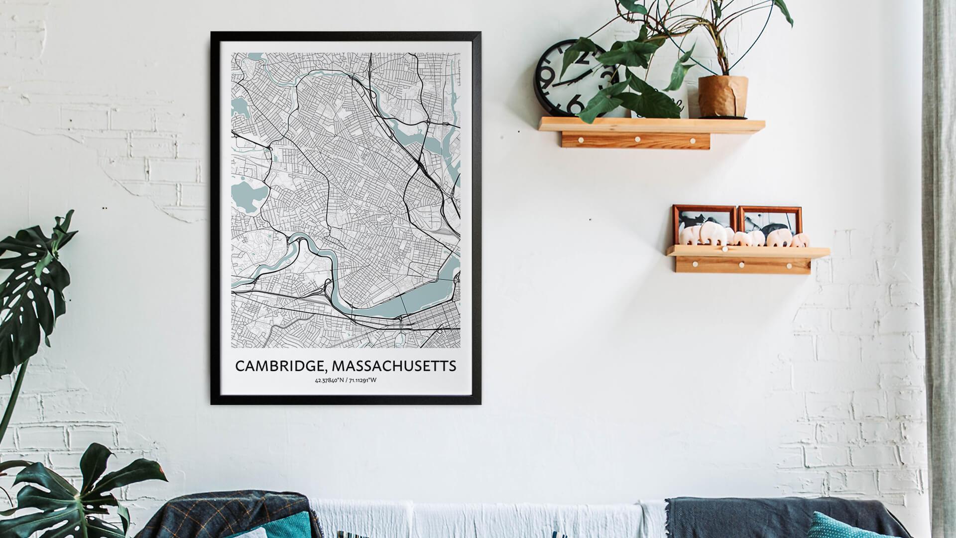 Cambridge map art