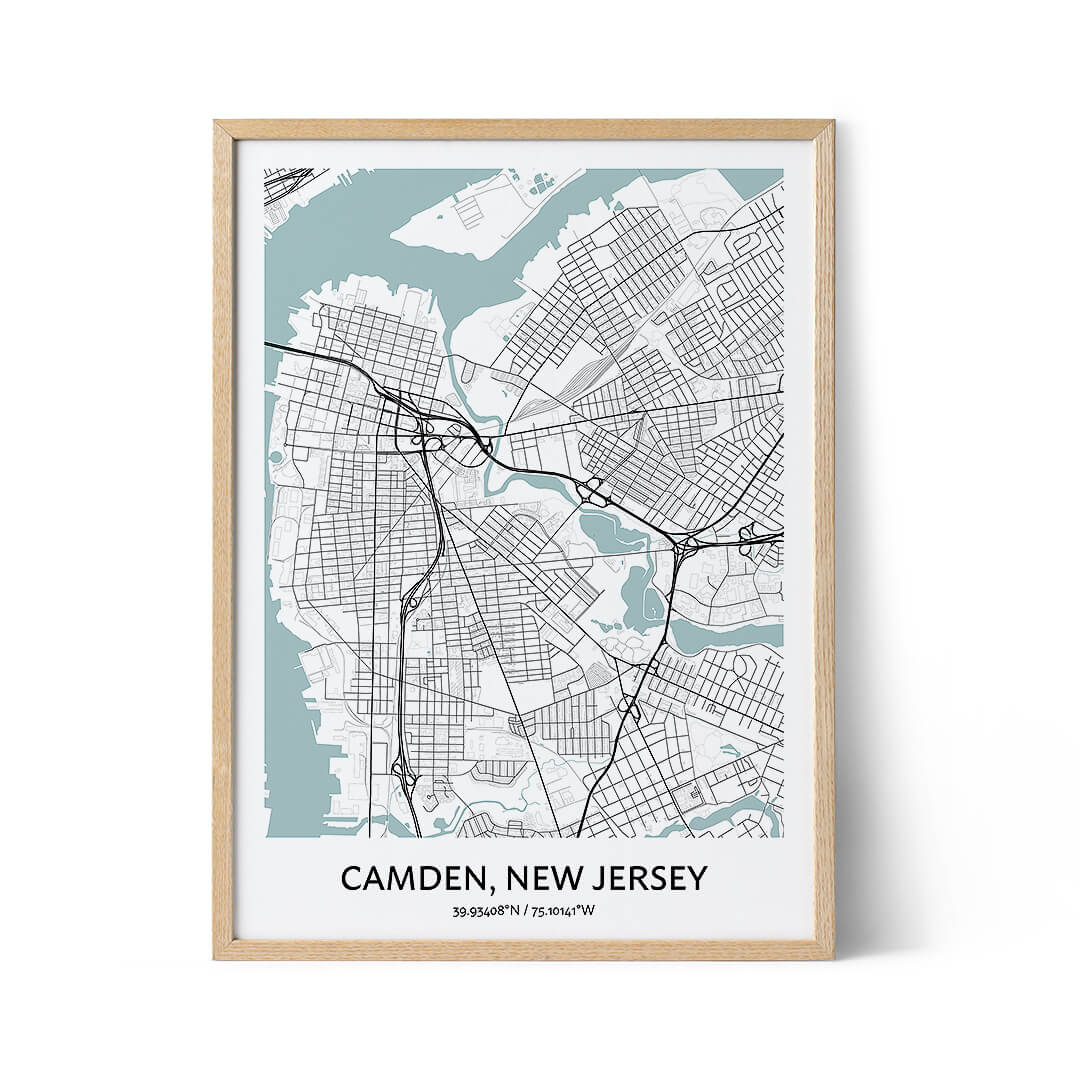 Camden city map poster