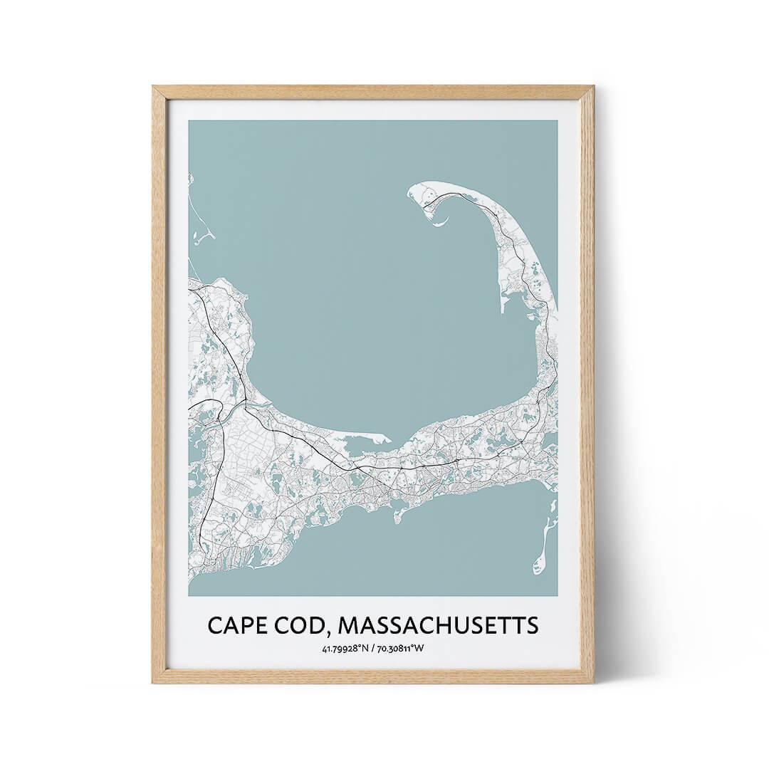 Cape Cod city map poster