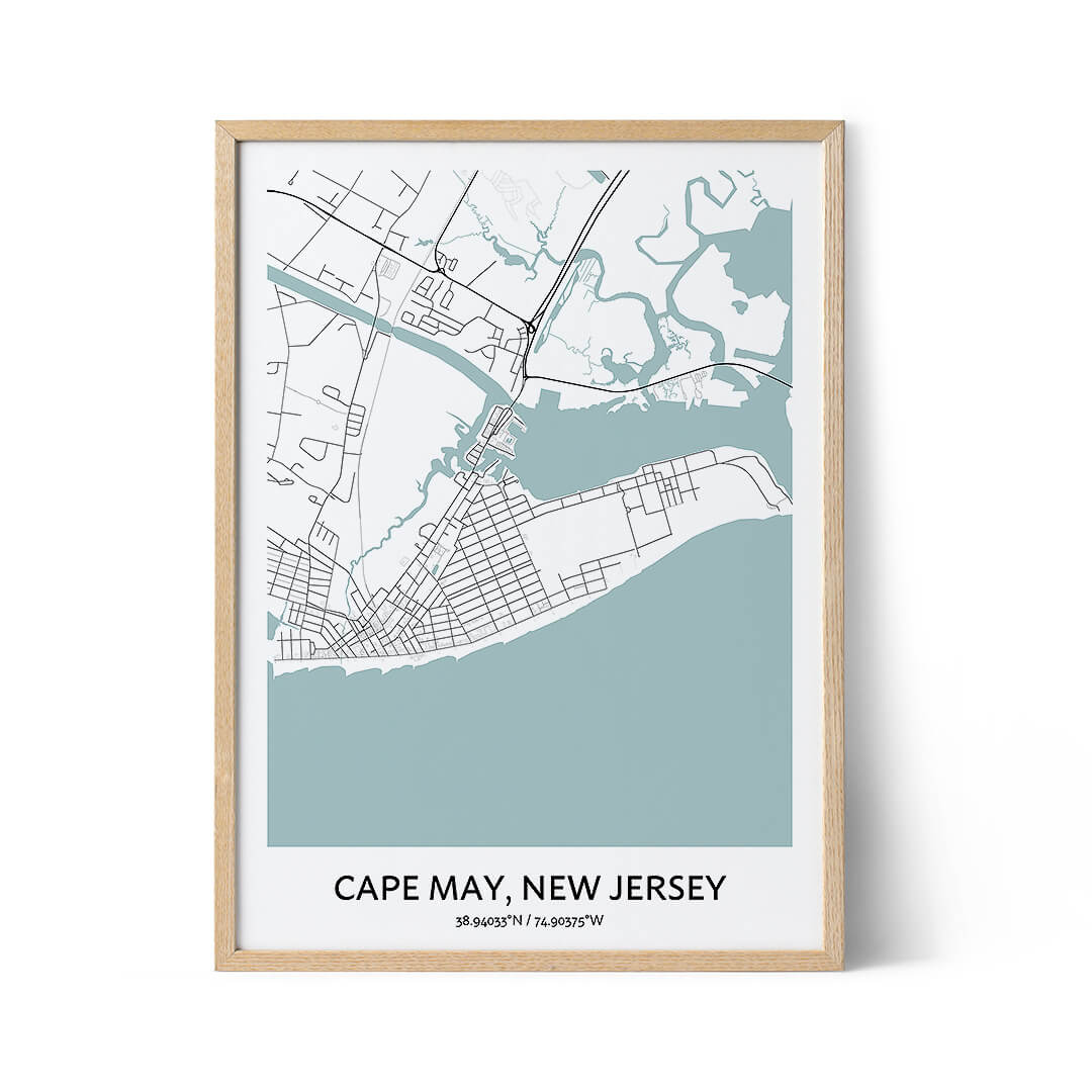 Cape May city map poster
