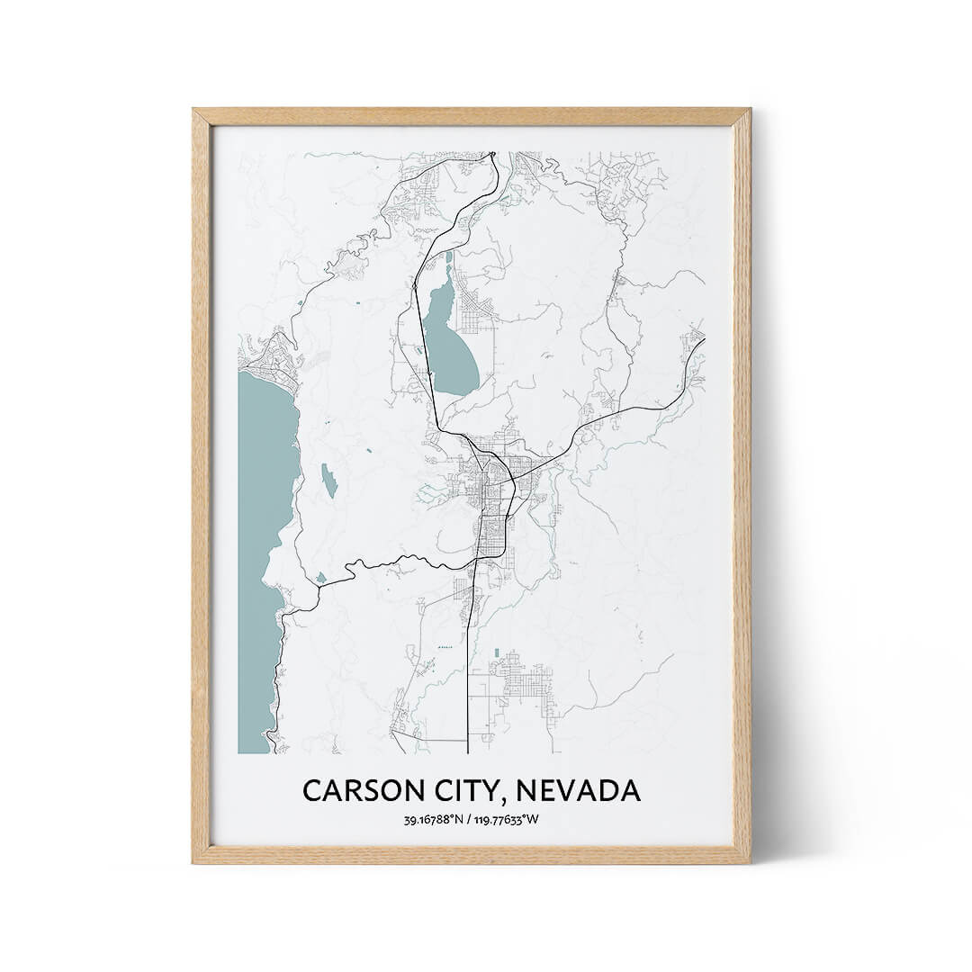 Carson City city map poster