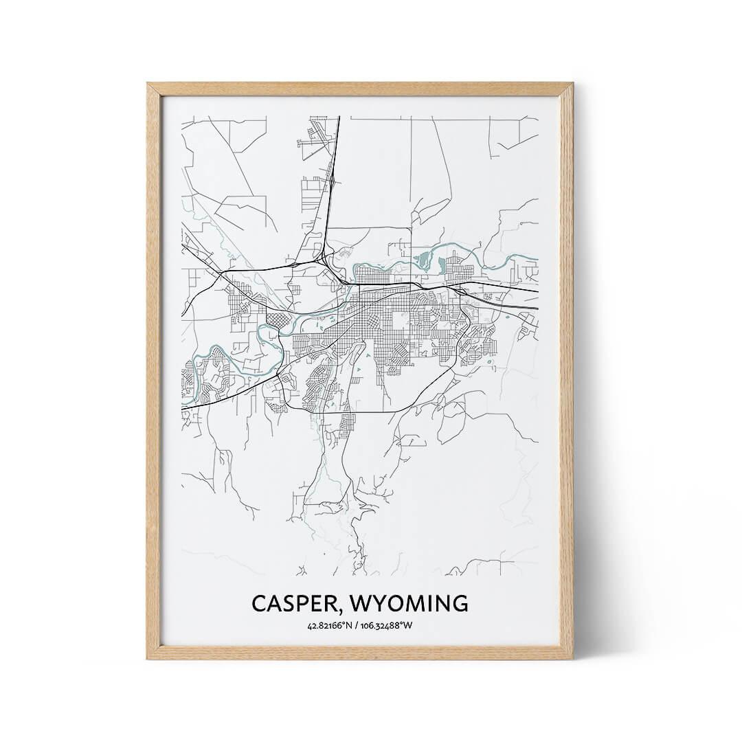 Casper city map poster