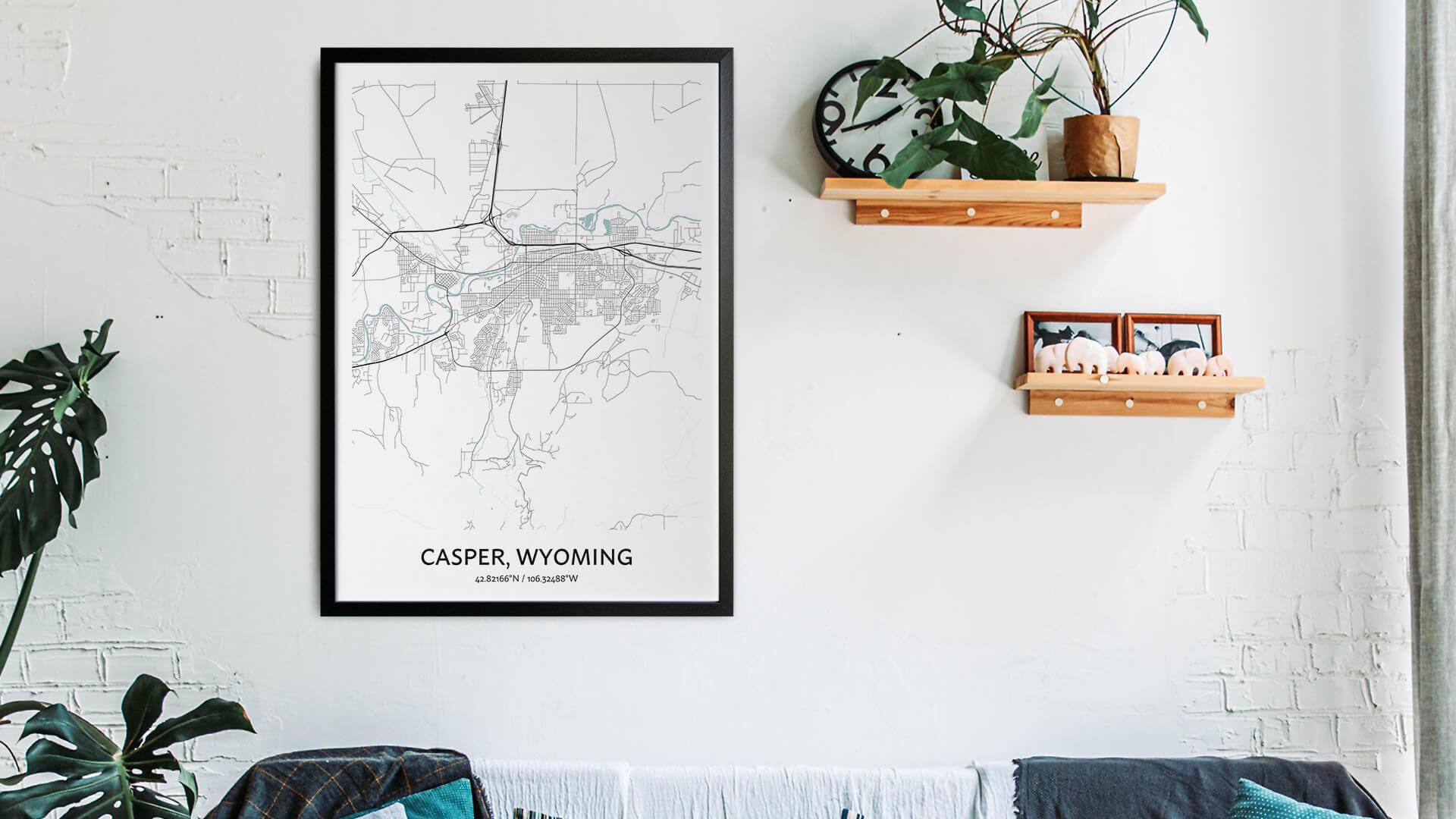 Casper map art