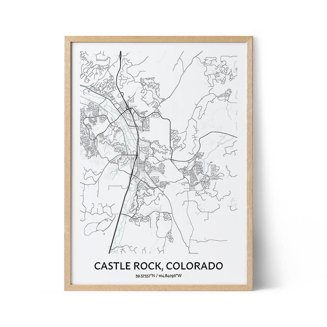 Castle Rock city map poster